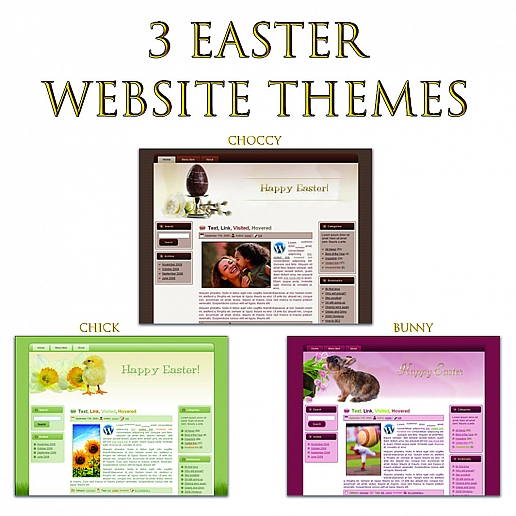 3 easter Wordpress themes